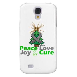 Brain Tumor Peace Love Joy Cure Galaxy S4 Covers