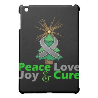 Brain Tumor Peace Love Joy Cure iPad Mini Cases