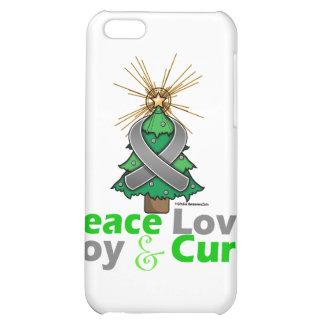 Brain Tumor Peace Love Joy Cure iPhone 5C Covers
