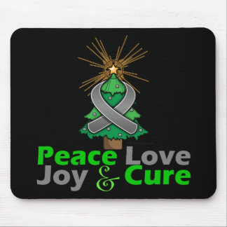 Brain Tumor Peace Love Joy Cure Mouse Pad