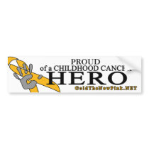 "Brain Tumor - ""Proud"" Bumper Sticker"