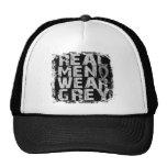 Brain Tumor Real Men Wear Grey Trucker Hat