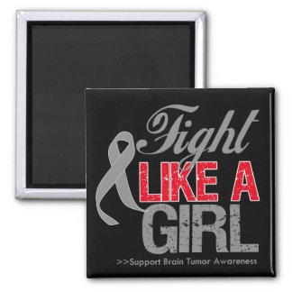 Brain Tumor Ribbon - Fight Like a Girl Refrigerator Magnets