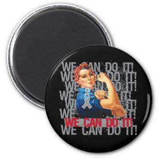 Brain Tumor Rosie WE CAN DO IT Fridge Magnet