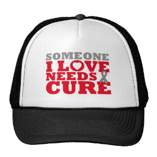 Brain Tumor Someone I Love Needs A Cure Trucker Hats
