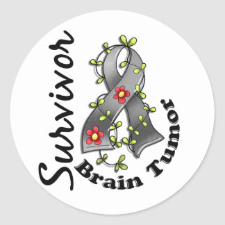 Brain Tumor Survivor 15 Classic Round Sticker