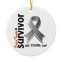 Brain Tumor Survivor 19 Ceramic Ornament