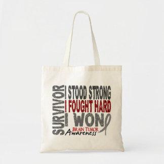 Brain Tumor Survivor 4 Canvas Bags