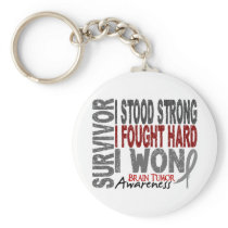 Brain Tumor Survivor 4 Keychain