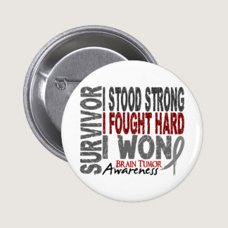 Brain Tumor Survivor 4 Pinback Button