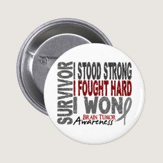 Brain Tumor Survivor 4 Pinback Button
