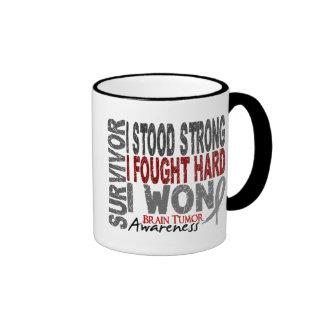 Brain Tumor Survivor 4 Ringer Mug