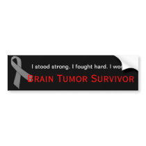 Brain Tumor Survivor bumper sticker