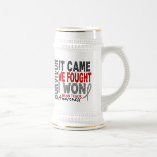 Brain Tumor Survivor It Came We Fought I Won Beer Stein