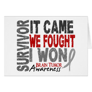 Brain Tumor Survivor It Came We Fought I Won Cards