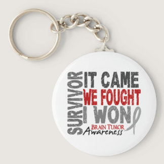 Brain Tumor Survivor It Came We Fought I Won Keychain