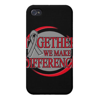 Brain Tumor Together We Make A Difference iPhone 4/4S Covers
