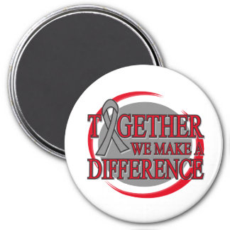 Brain Tumor Together We Make A Difference Fridge Magnet