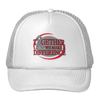 Brain Tumor Together We Make A Difference Trucker Hat