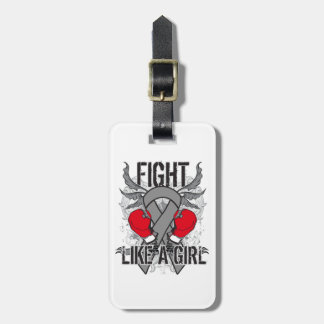 Brain Tumor Ultra Fight Like A Girl Tag For Luggage