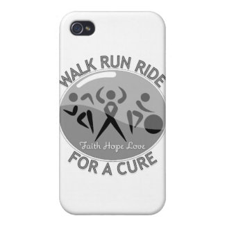Brain Tumor Walk Run Ride For A Cure iPhone 4/4S Cases