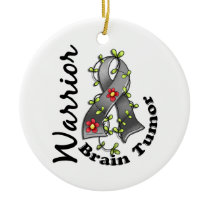 Brain Tumor Warrior 15 Ceramic Ornament