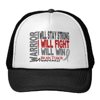 Brain Tumor Warrior Trucker Hats