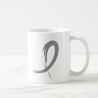 Brain Tumor's Grey Ribbon A4 Coffee Mug