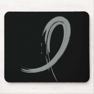 Brain Tumor's Grey Ribbon A4 Mouse Pad