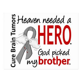 Brain Tumors Heaven Needed a Hero Brother Postcard