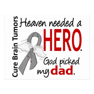 Brain Tumors Heaven Needed a Hero Dad Postcard