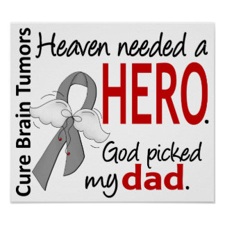 Brain Tumors Heaven Needed a Hero Dad Poster