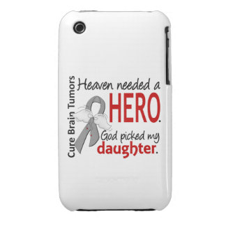 Brain Tumors Heaven Needed a Hero Daughter iPhone 3 Case-Mate Case