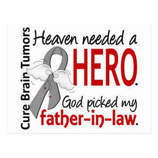 Brain Tumors Heaven Needed a Hero Father-In-Law Postcard