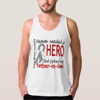 Brain Tumors Heaven Needed a Hero Father-In-Law Tank Top