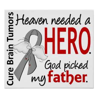 Brain Tumors Heaven Needed a Hero Father Poster