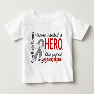 Brain Tumors Heaven Needed a Hero Grandpa Baby T-Shirt