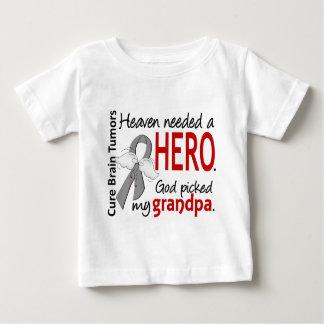 Brain Tumors Heaven Needed a Hero Grandpa Tee Shirt