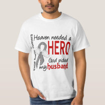 Brain Tumors Heaven Needed a Hero Husband T-Shirt