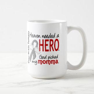 Brain Tumors Heaven Needed a Hero Momma Classic White Coffee Mug