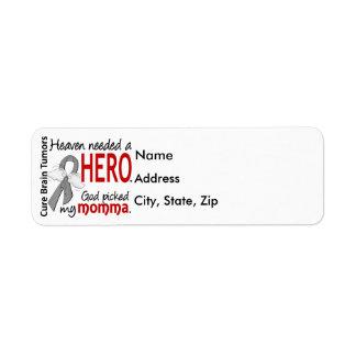 Brain Tumors Heaven Needed a Hero Momma Label