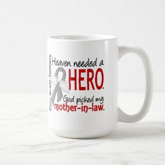 Brain Tumors Heaven Needed a Hero Mother-In-Law Classic White Coffee Mug