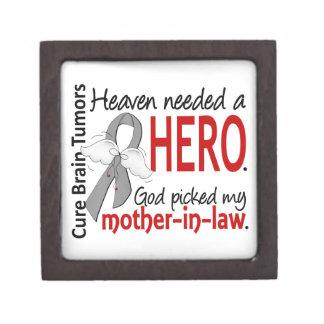 Brain Tumors Heaven Needed a Hero Mother-In-Law Premium Keepsake Box