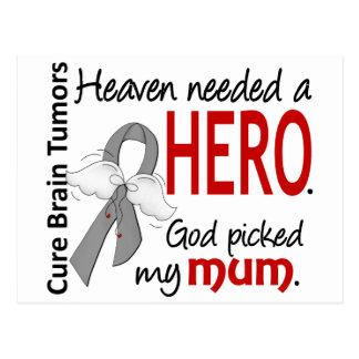 Brain Tumors Heaven Needed a Hero Mum Postcard