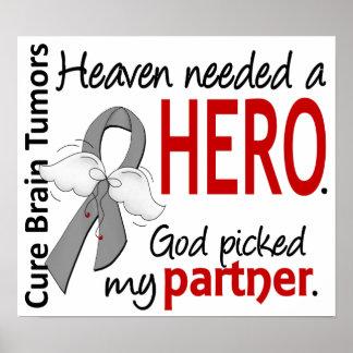 Brain Tumors Heaven Needed a Hero Partner Poster