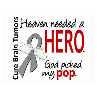 Brain Tumors Heaven Needed a Hero Pop Postcard