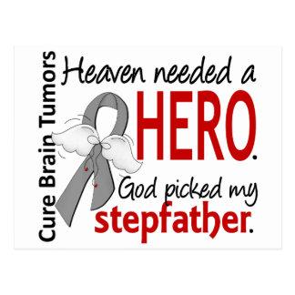 Brain Tumors Heaven Needed a Hero Stepfather Postcard