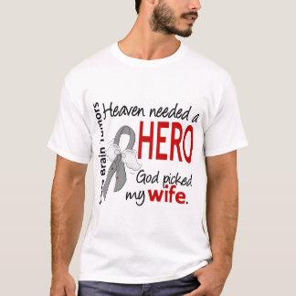 Brain Tumors Heaven Needed a Hero Wife T-Shirt