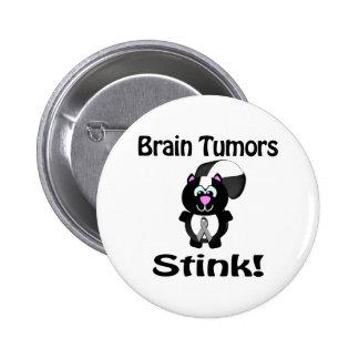 Brain Tumors Stink Skunk Awareness Design Buttons