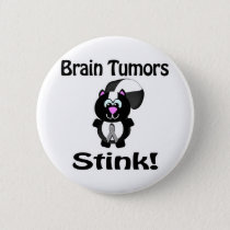 Brain Tumors Stink Skunk Awareness Design Pinback Button